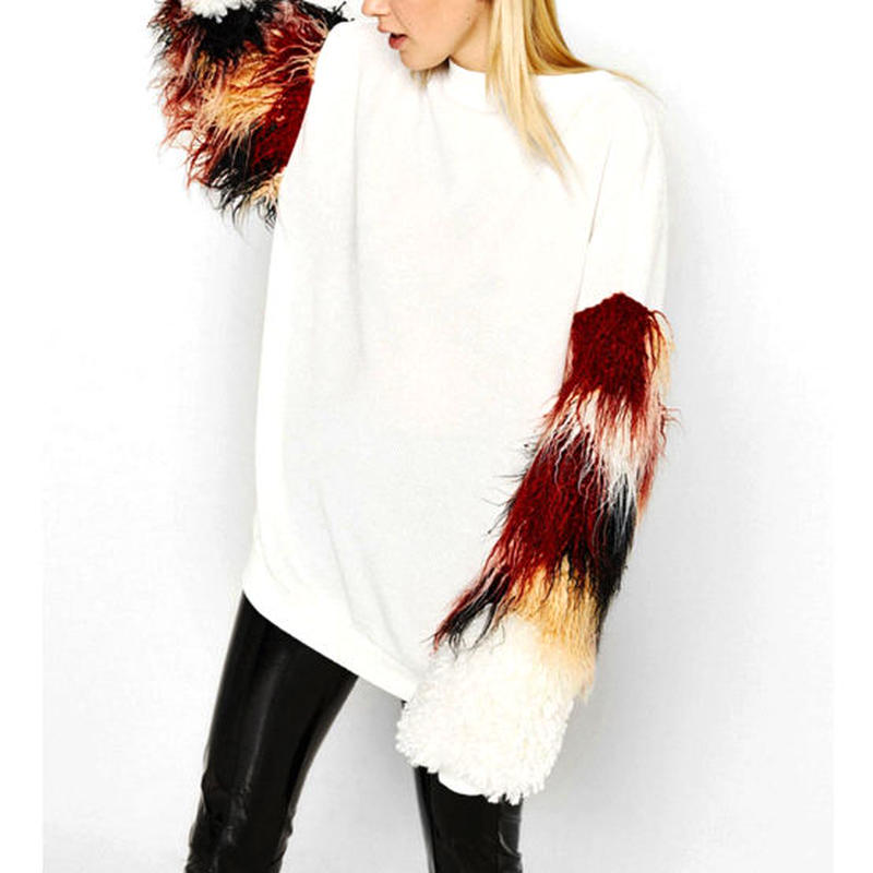 Fur Sleeveカットソー