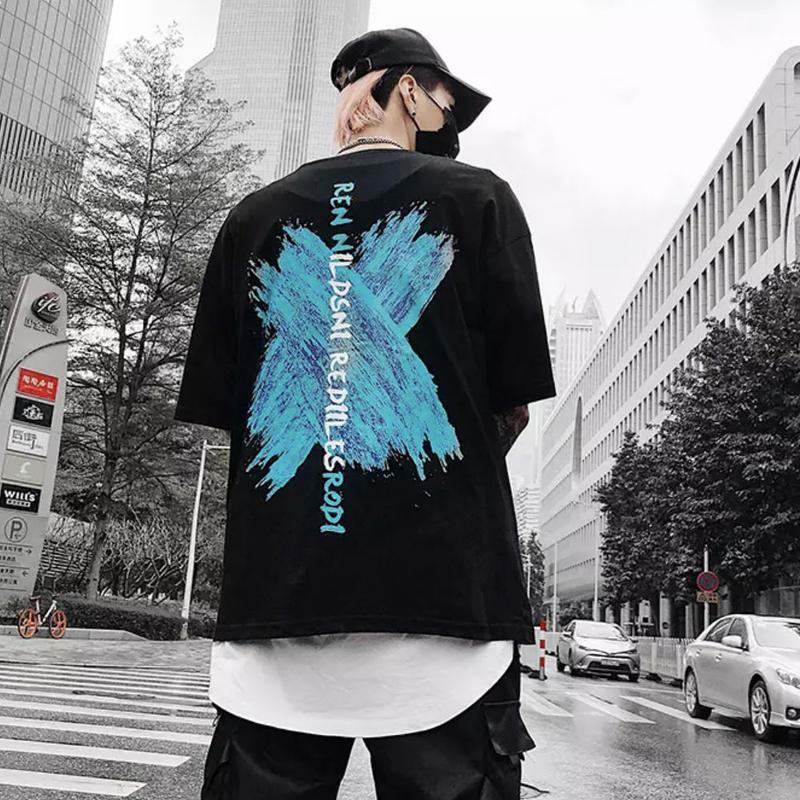 【大人気】XカラーデザインTシャツ 2カラー