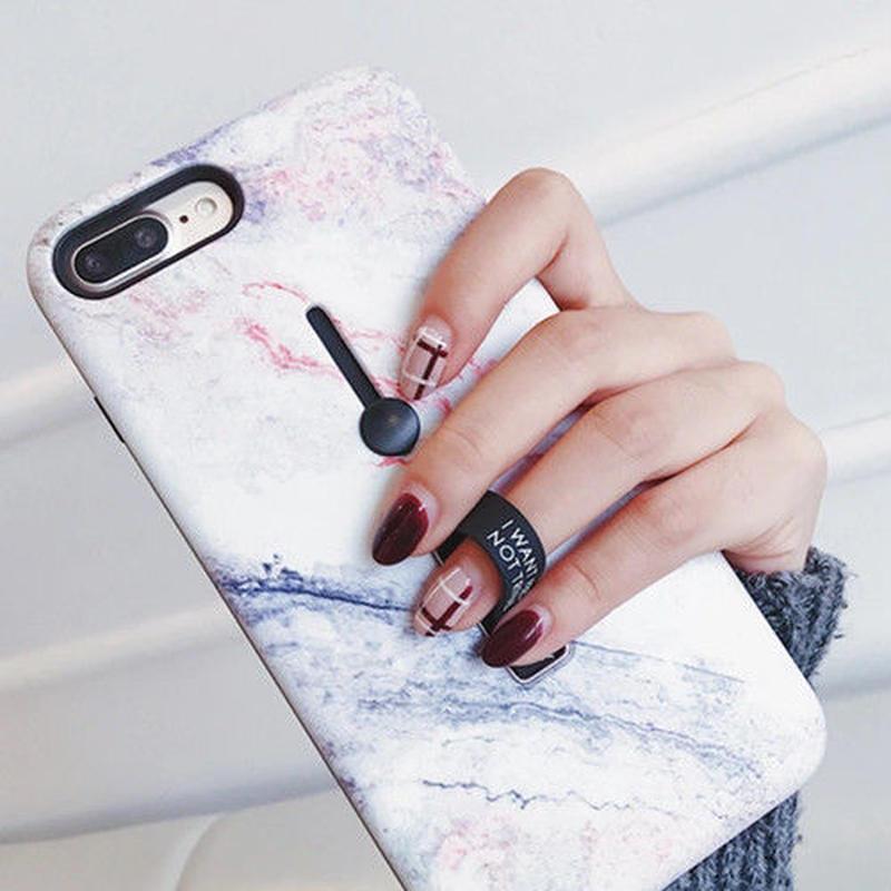 [売り切れ間違いなし]大理石デザインリングスタンドアイフォンケース 全機種対応
