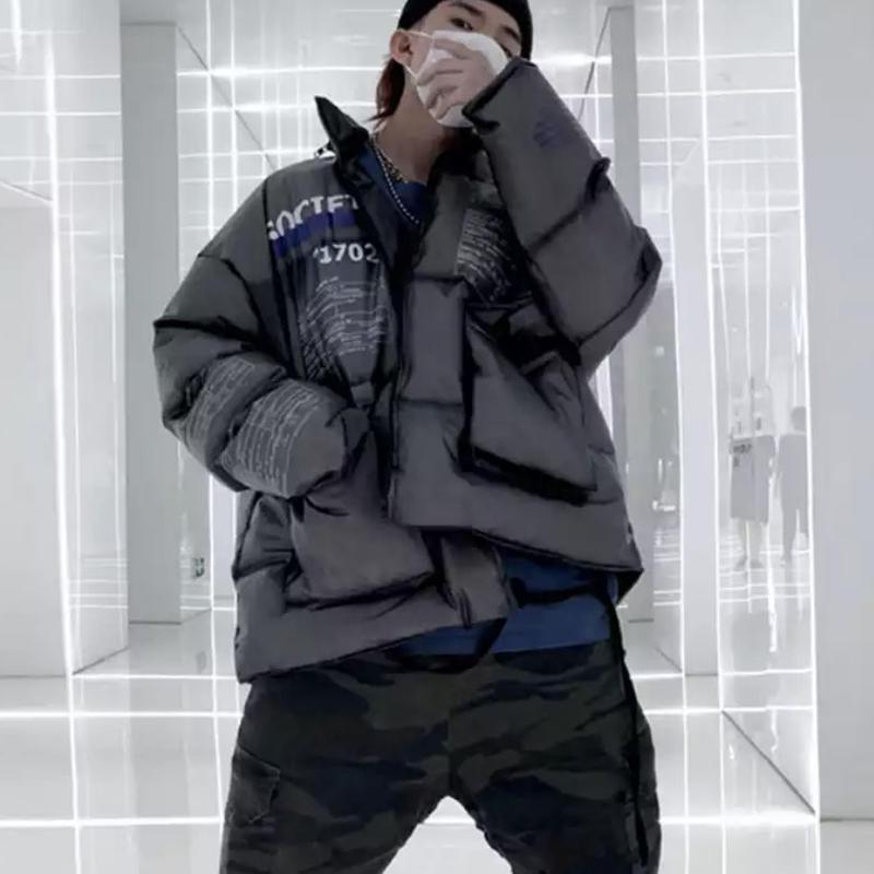 【STREET】SOCITYデザインダウンジャケット 2カラー