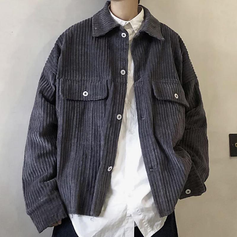 【大人気】コーデュロイデザインジャケット 3カラー