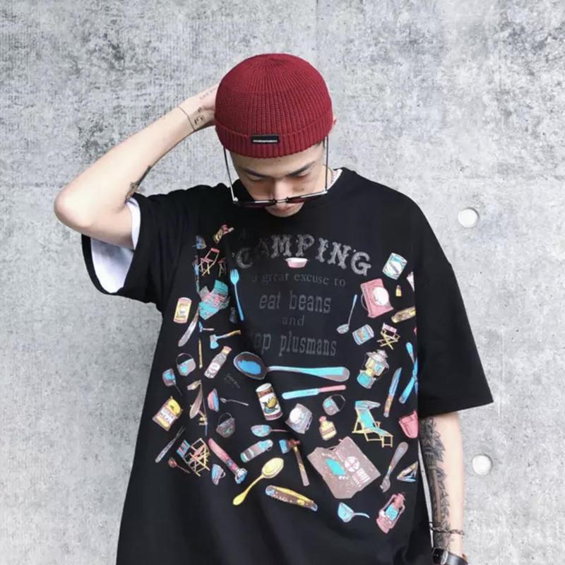 【DOPE】CAMPINGデザインTシャツ 2カラー