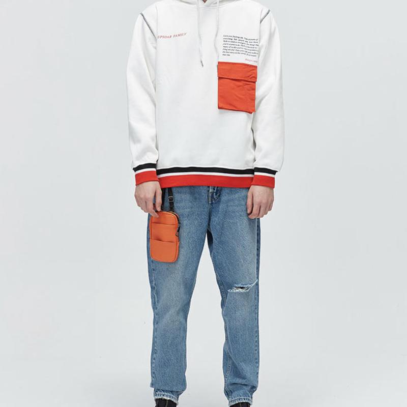 【売れ筋】レッドポケットデザインフーディー 2カラー