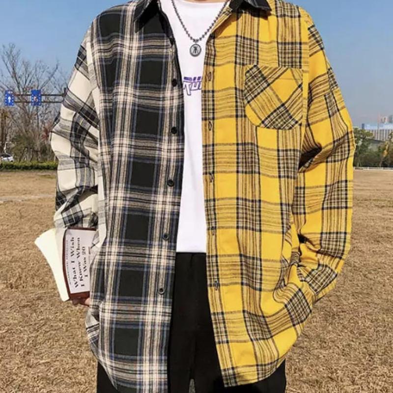 【COOL】イエローバイカラーシャツ