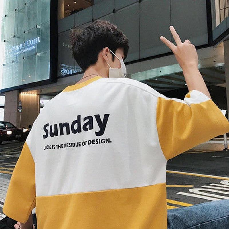 【トレンド】SundayデザインTシャツ 3カラー