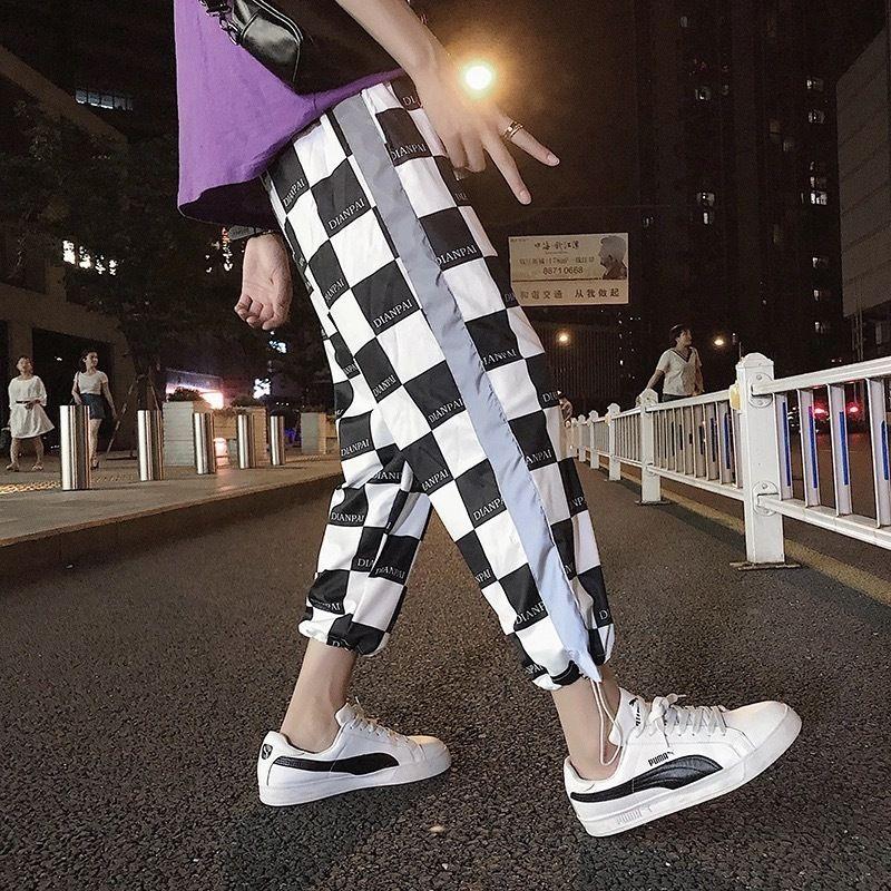 【STREET】モノクロリフレクトパンツ