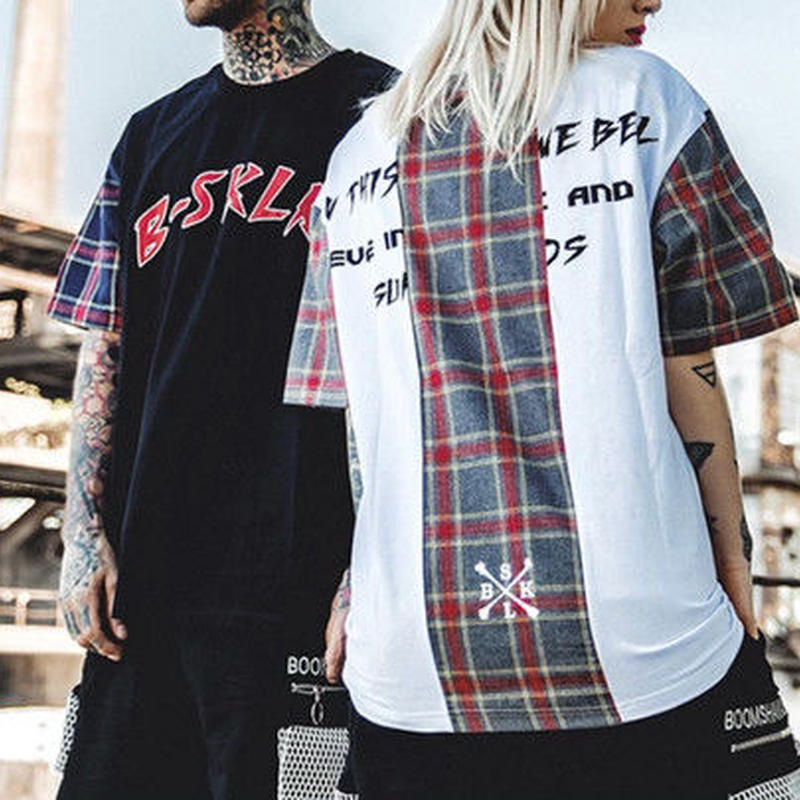 [COOL]特殊パターンデザインTシャツ 2カラー