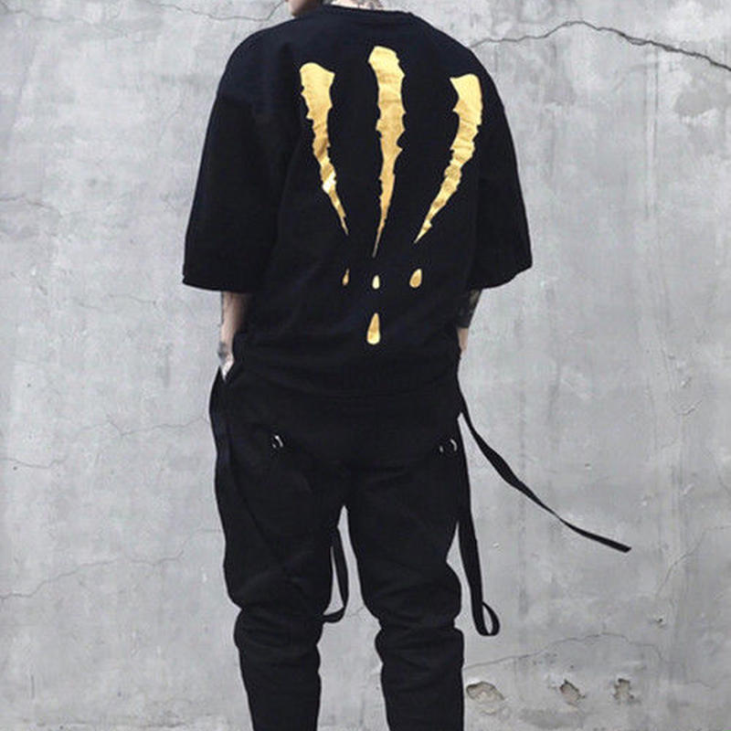 [売り切れ間近]鉤爪オーバーデザインTシャツ 4カラー