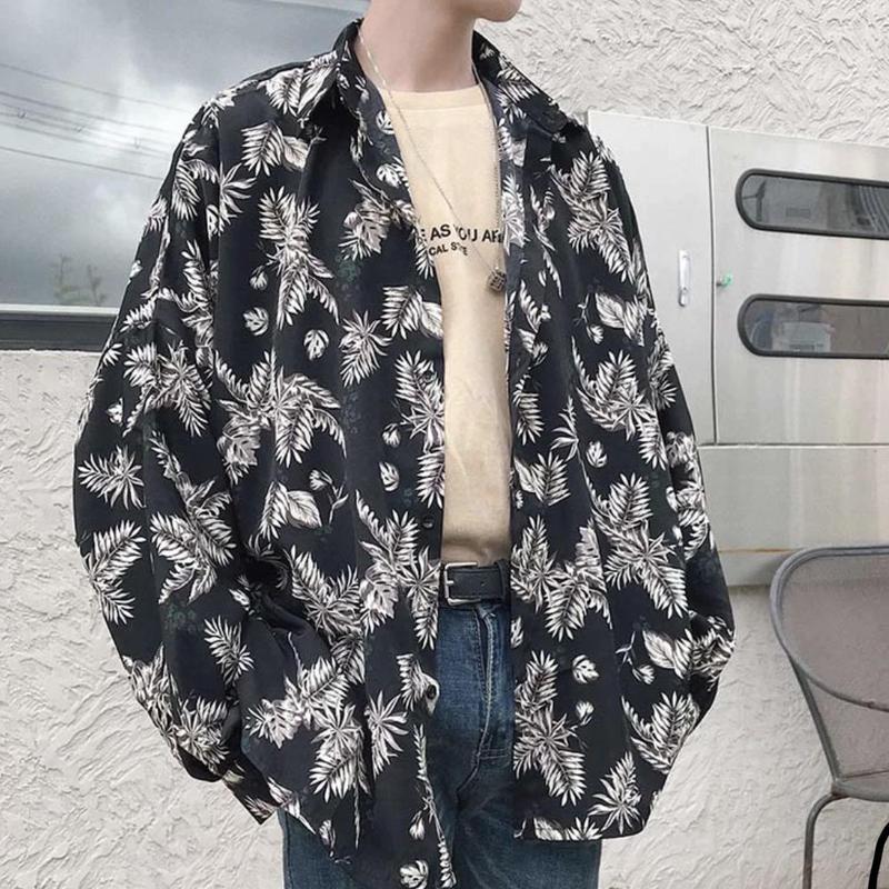 【TREND】フラワーリーフビックシャツ 2カラー