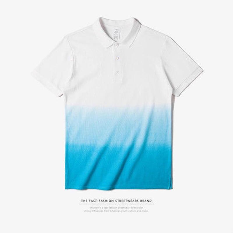 【大人気】3カラーデザインポロシャツ 4カラー