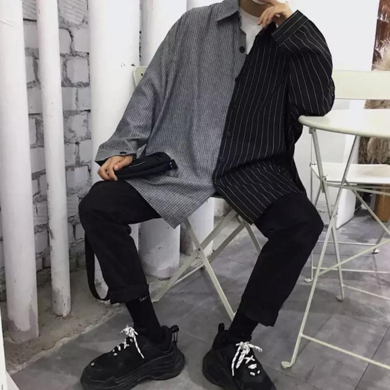 【DOPE】バイカラービックサイズシャツ