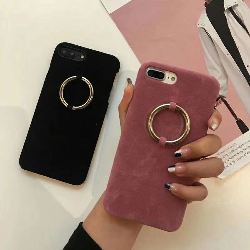[HOT]リングデザインアイフォンケース 2カラー 全機種対応