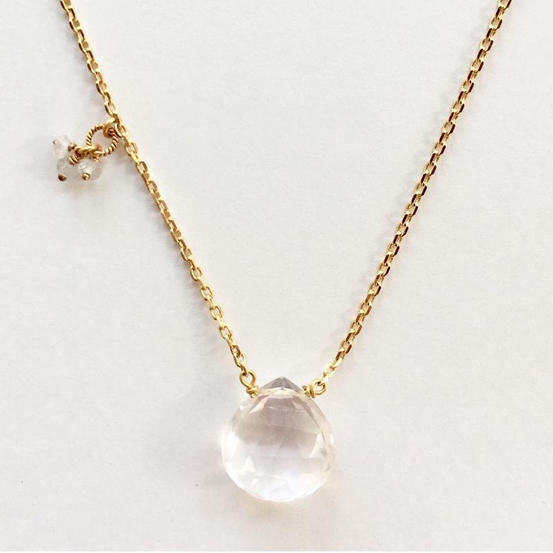 1stone necklace / rose quartz