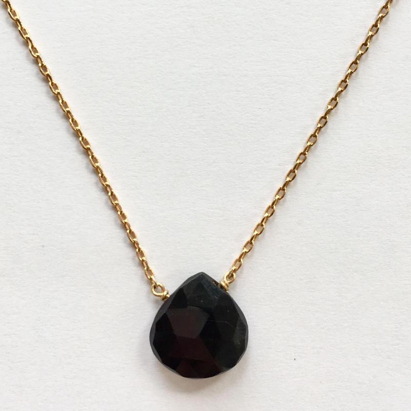 1stone necklace/ Black onyx