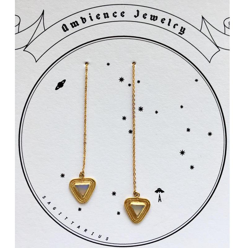 Triangle opal pierce / chain