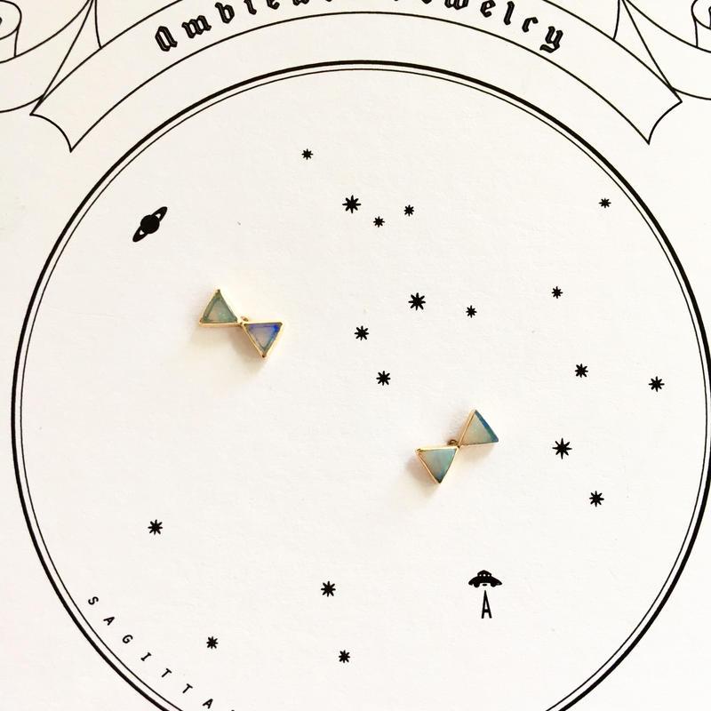 Ribbon opal pierce