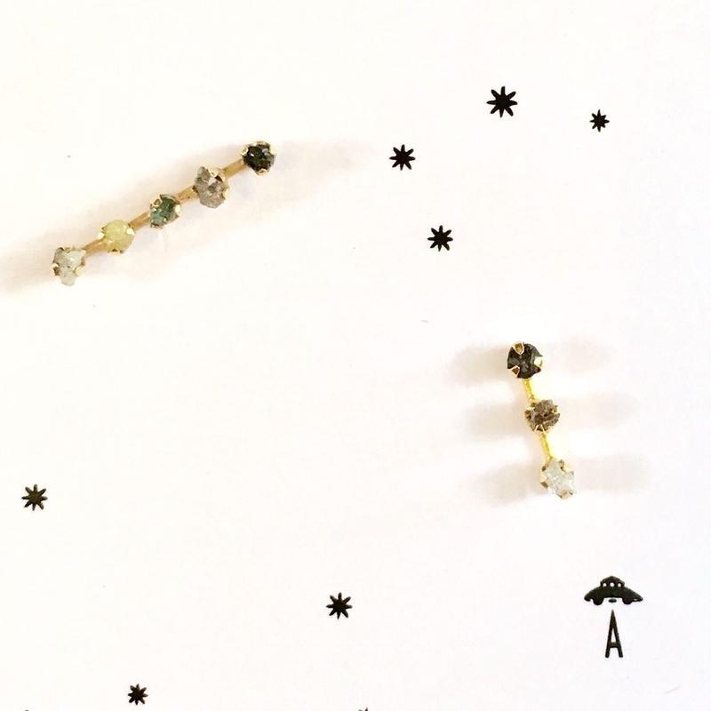 Stardust 3 rough diamonds