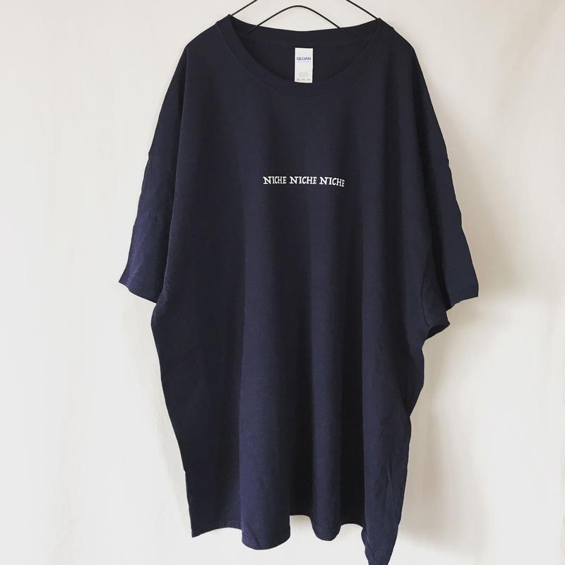 NICHE NICHE NICHE ロゴT 3 XL (ネイビー・ブラック)