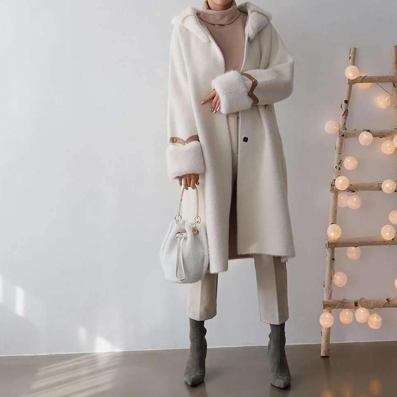 winter fur hood coat