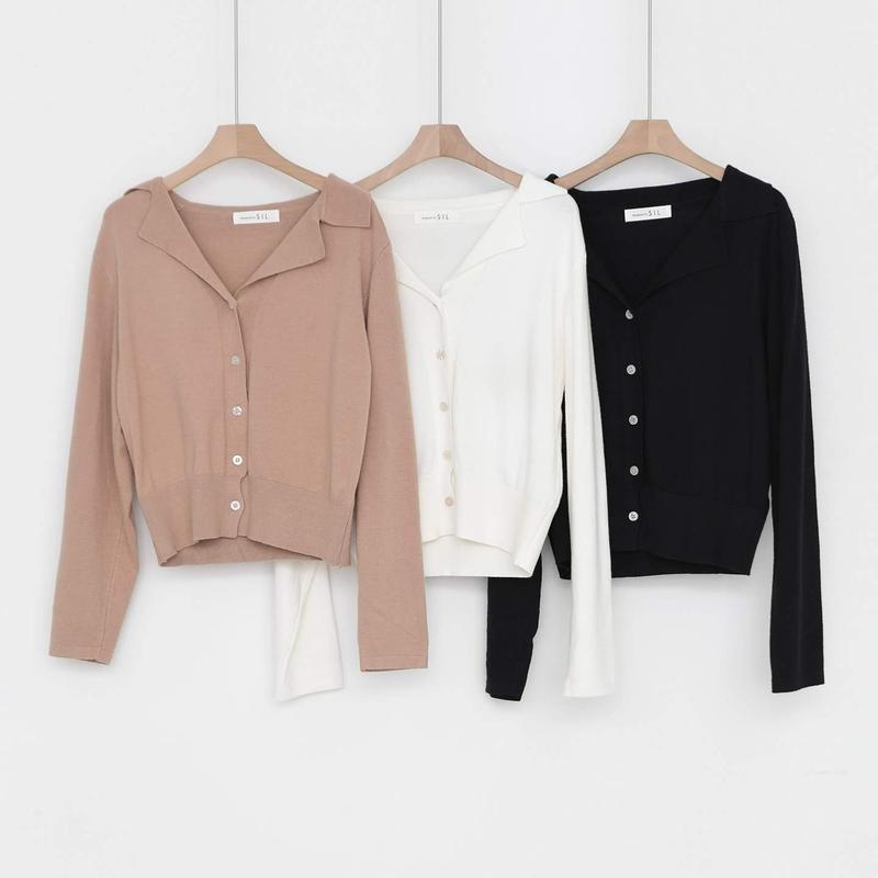 v-neck collar knit