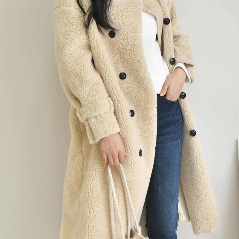 wool w long coat