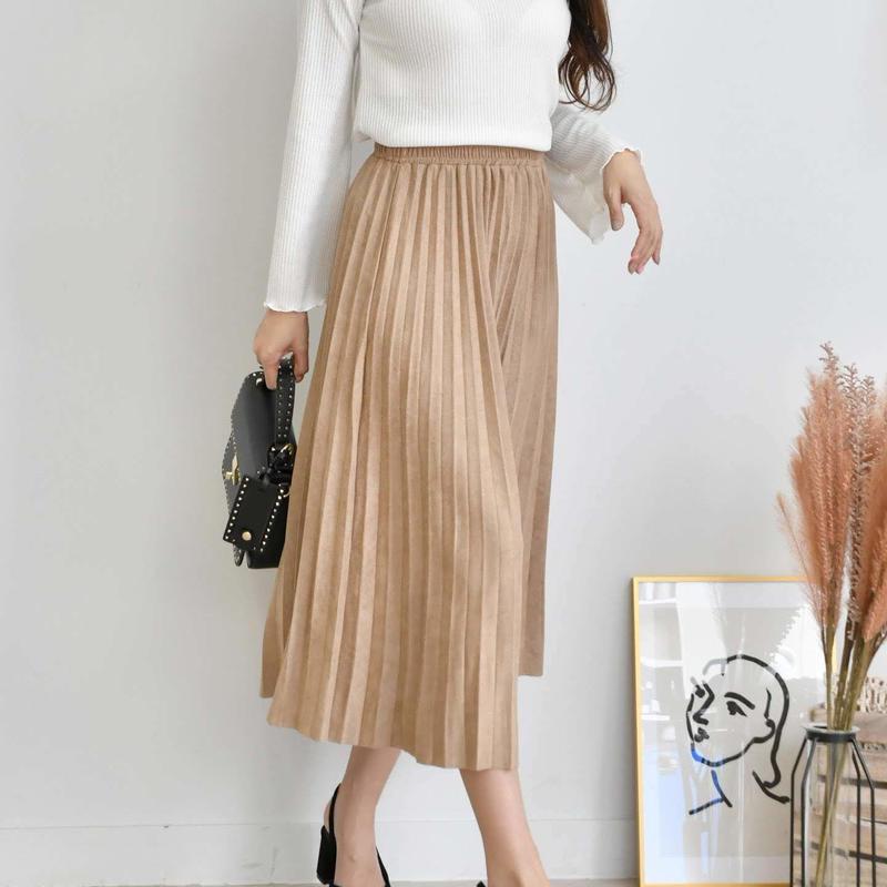 suede wrinkle skirt