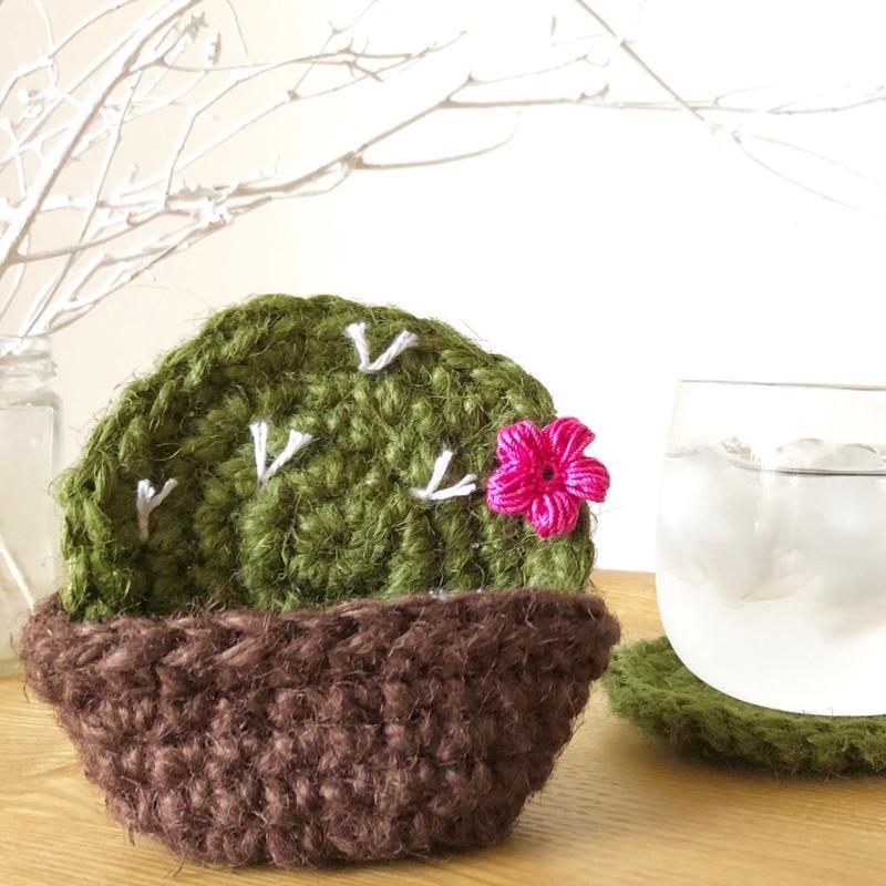 かぎ針編み【サボテンコースターセット】編み図