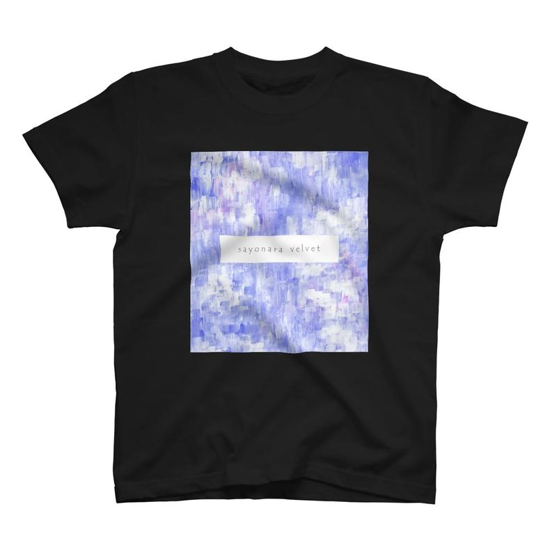 「巡る」Tシャツ / 008 (青藤/black)