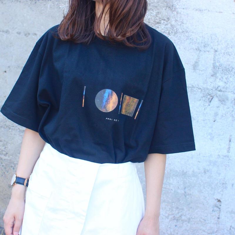 「AWAI KO I」Tシャツ / 005 (navy)