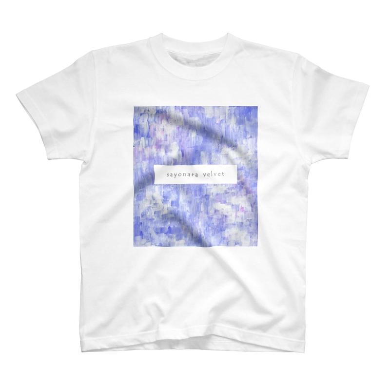 「巡る」Tシャツ / 007 (青藤/white)