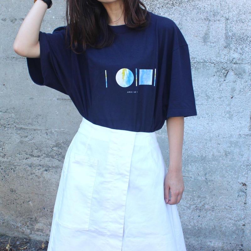 「AWAI KO I」Tシャツ / 002 (navy)