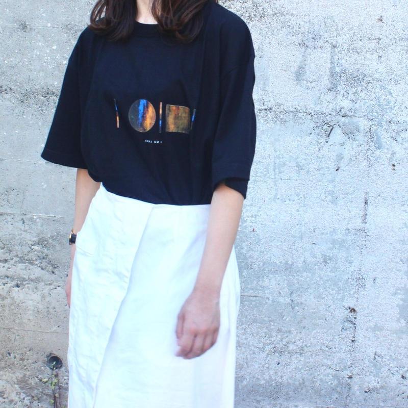 「AWAI KO I」Tシャツ / 006 (black)