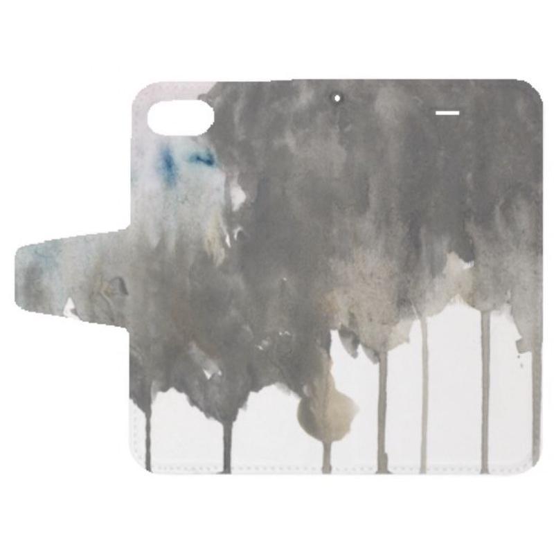 「澱み」手帳型iPhoneケース