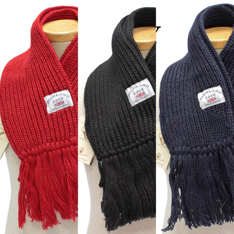 !!HIGHLAND 2000Scarf with Fringe3色展開■¥10584