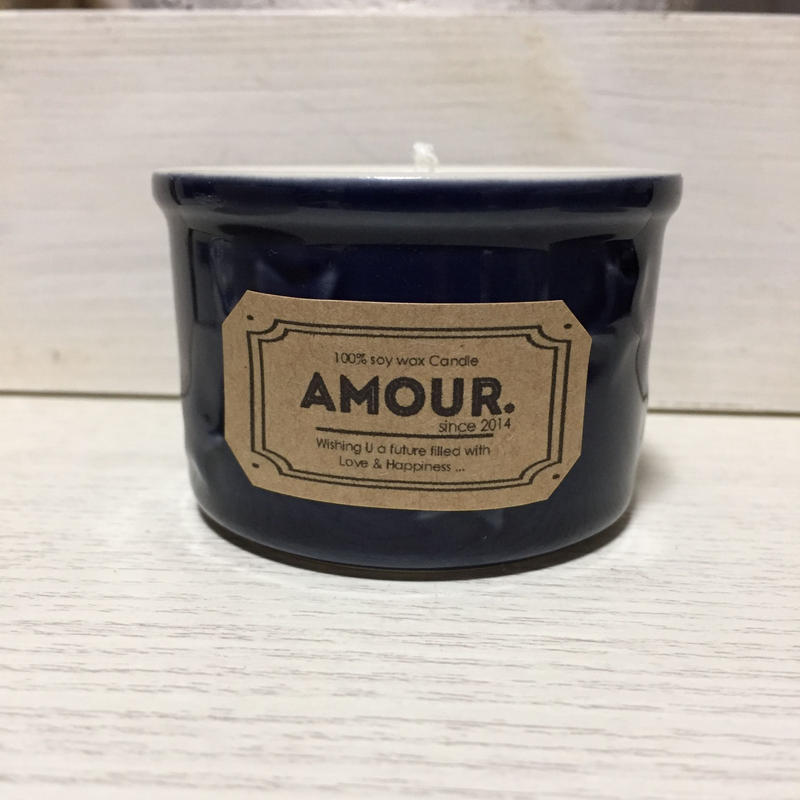 STAR Glass Candle (Navy)