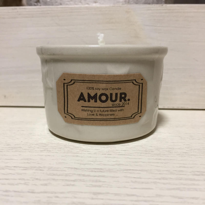 STAR Glass Candle (White)