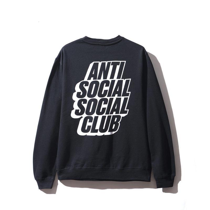 ANTI SOCIAL SOCIAL CLUB BLOCKED LOGO CREWNECK / BLACK