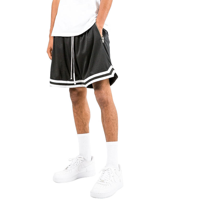 mnml    BASIC BASKETBALL SHORTS / BLACK-WHITE