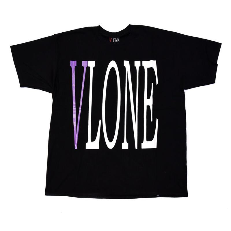 VLONE  LOGO TEE / BLACK _ PURPLE