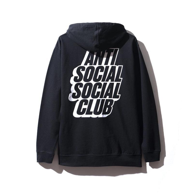 ANTI SOCIAL SOCIAL CLUB BLOCKED LOGO HOODIE / BLACK