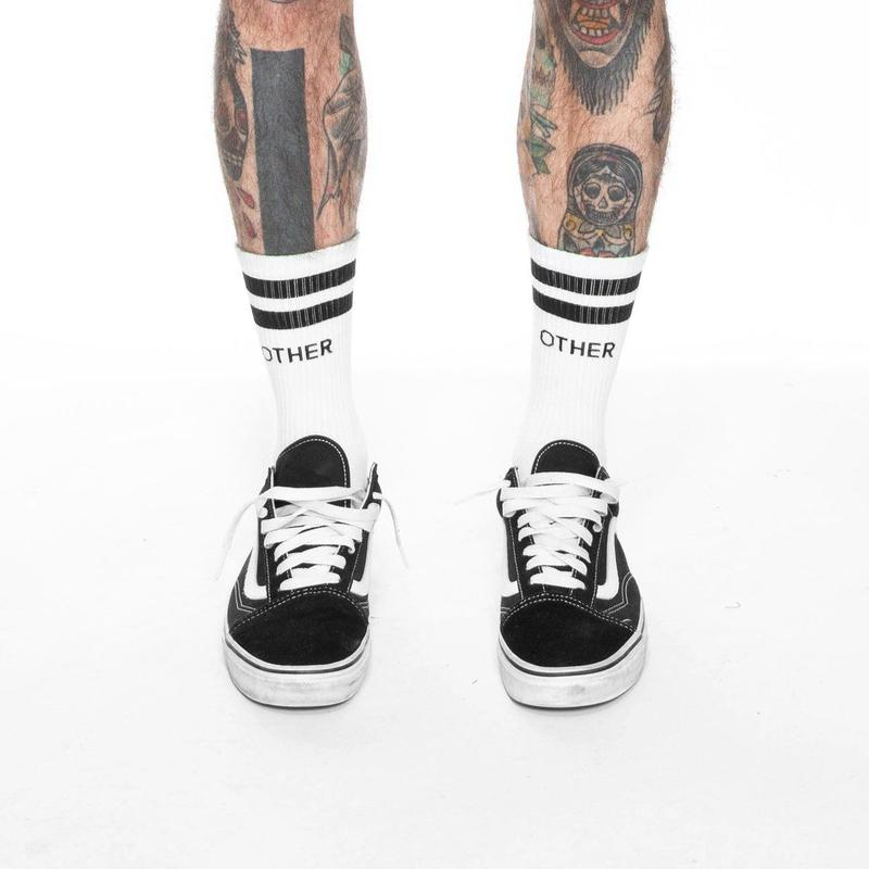 OTHER UK / STRIPE SOCKS / WHITE