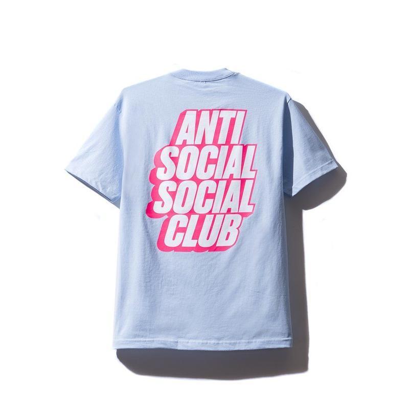 ANTI SOCIAL SOCIAL CLUB  BLOCKED LOGO TEE / SKYBLUE