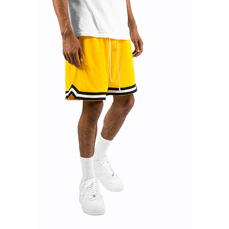 mnml    BASIC BASKETBALL SHORTS / YELLOW