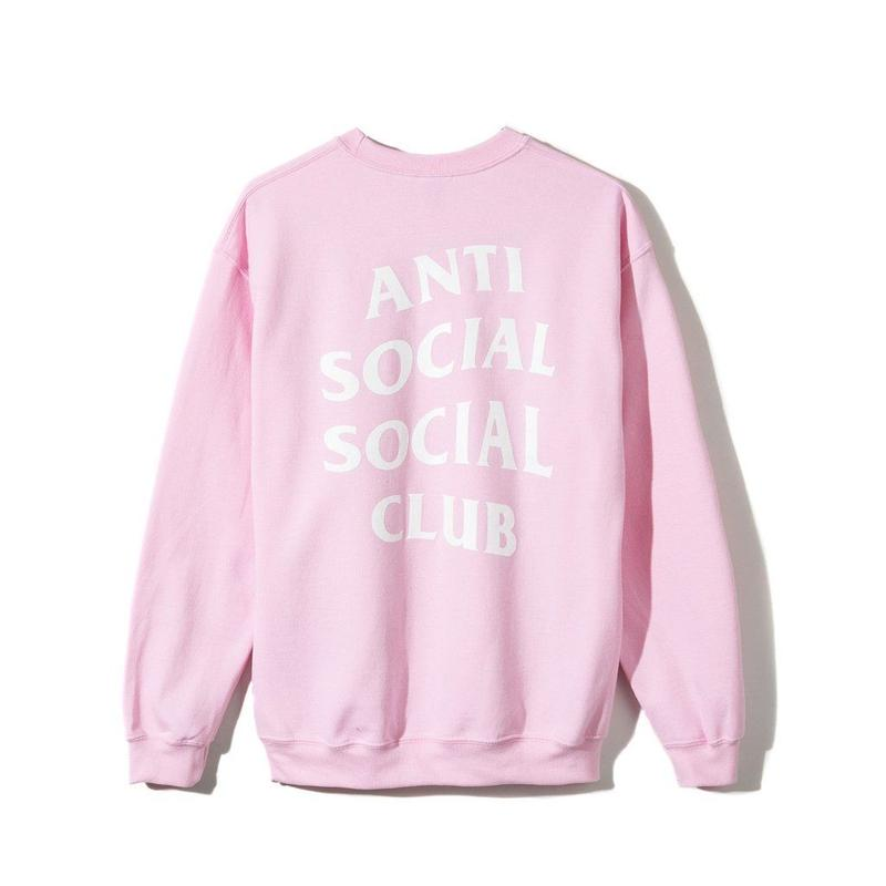 ANTI SOCIAL SOCIAL CLUB  KNOW YOU BETTER CREWNECK / PINK