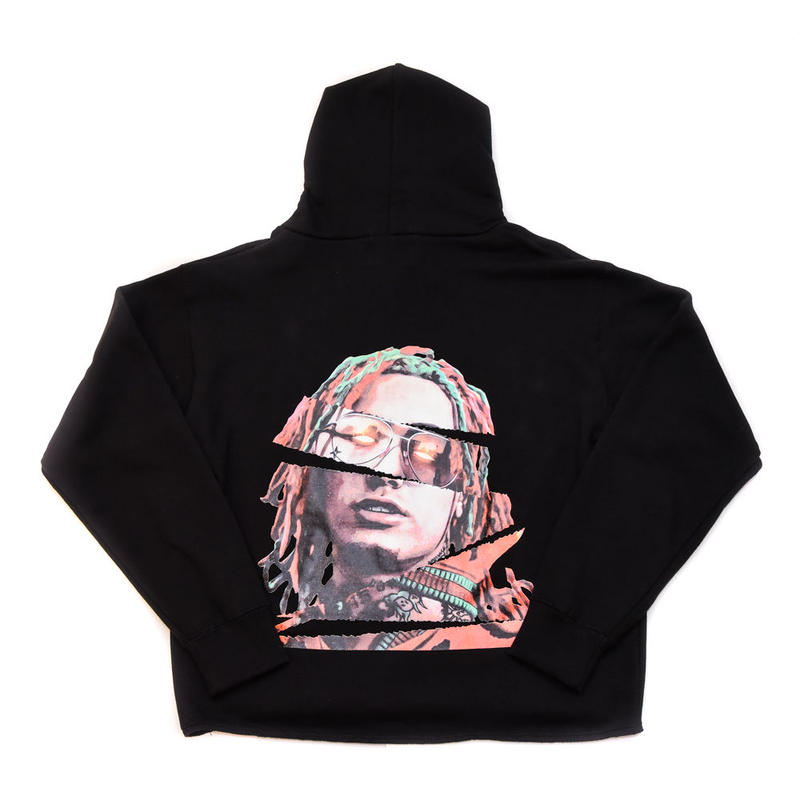 "PULL OVER HOODIE ""GUCCI GANG"" / BLACK"