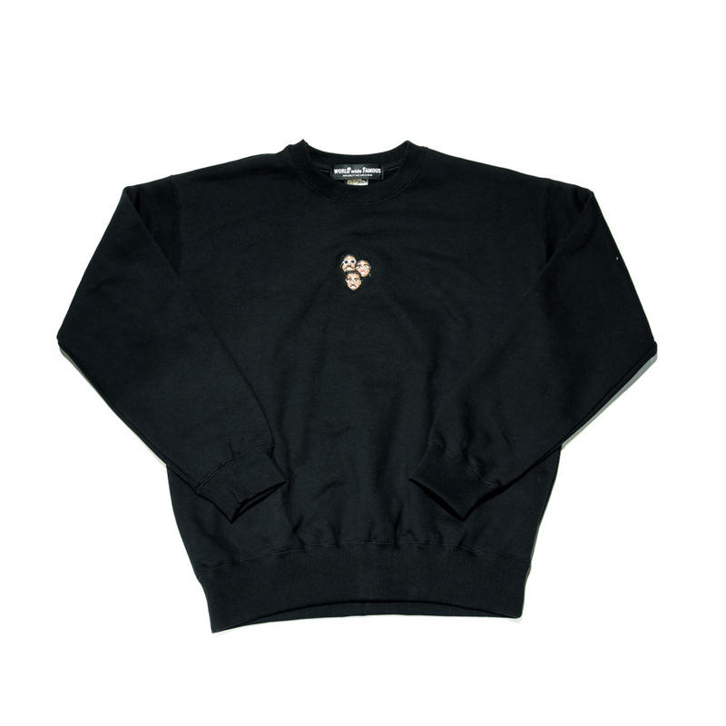 WORLD wide FAMOUS × AMOUR /MIGOS CREW NECK / BLACK