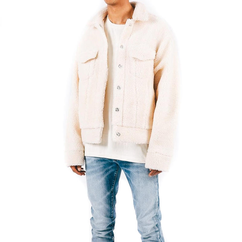 mnml / SHERPA DENIM TRUCKER / OFF WHITE