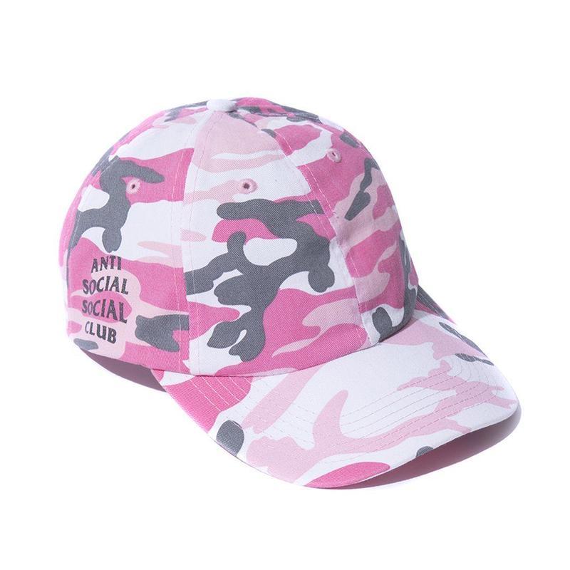 ANTI SOCIAL SOCIAL CLUB  50DEGREES CAMO CAP / PINK