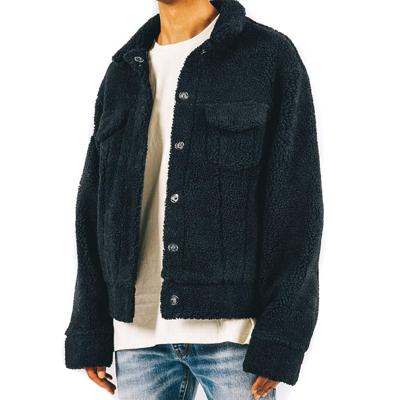 mnml SHERPA JACKET / BLACK