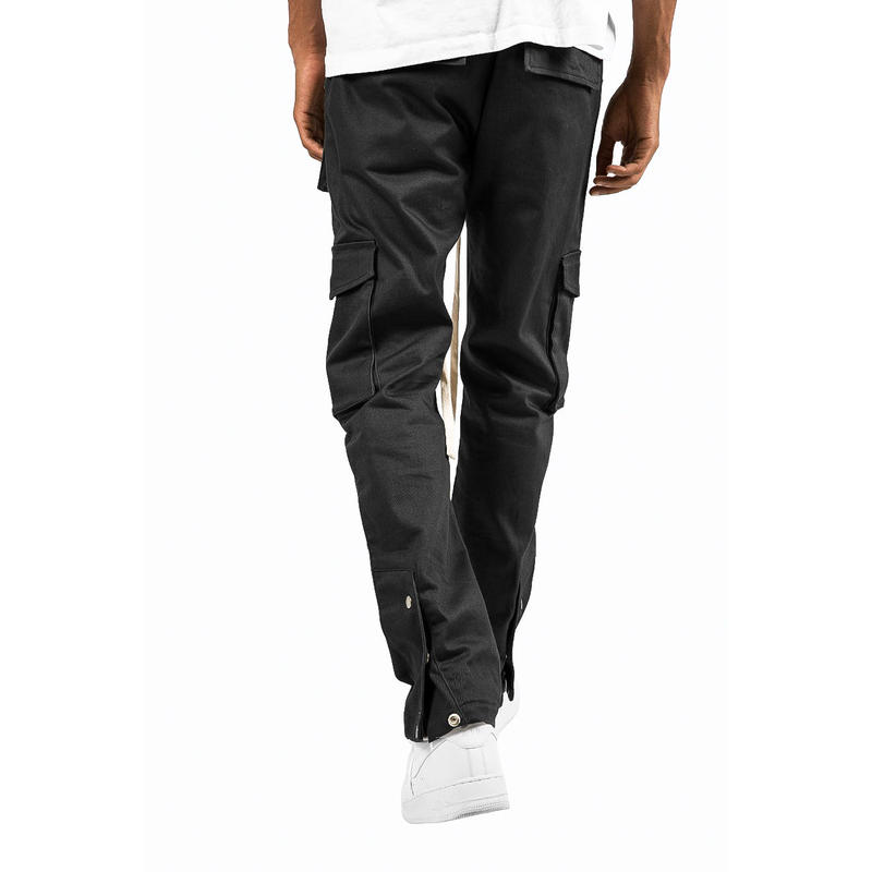 mnml   SNAP CARGO  PANTS / BLACK